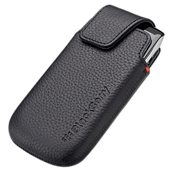 Blackberry 9860 Leather Pocket - Black