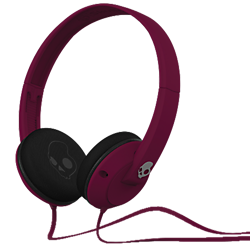 Skullcandy Uprock headphones  Plum red