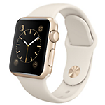 Apple Watch 38mm Gold Aluminium Case with Antique White Sport Band