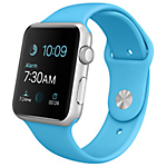 Apple Watch 42mm Silver Aluminium Case with Blue Sport Band