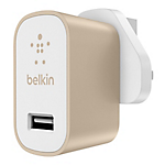 Belkin MixIt metallic home charger 2.4amp - Gold