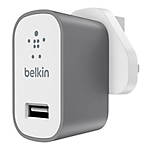 Belkin MixIt metallic home charger 2.4amp - Grey