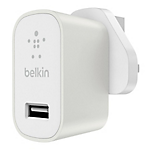 Belkin MixIt metallic home charger 2.4amp - White