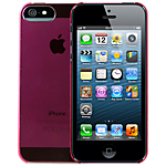 Dynex ultra-thin hard case for iPhone 5 - Pink
