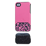 Glam Rox Night and Day iPhone 4/4S Cover - Pink/Glitter