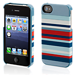 Griffin Snappy Stripes Case for iPhone 4S - Blue