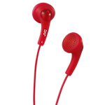 JVC Gumy In -Ear Headphones- Red