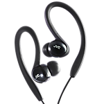 JVC Ear clip sports headphones-colour match for iPod - black