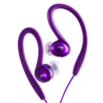 JVC Ear clip sports headphones-colour match for iPod - purple