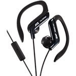 JVC Sports Headphones with mic and clip - Black