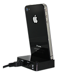 Kitsound iPhone 4/4S Dock - black