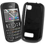 Nokia soft cover for Nokia Asha 201 - Black