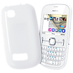 Nokia soft cover for Nokia Asha 201 - White