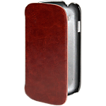 Orbyx leather folio case for Galaxy SIII mini - Brown