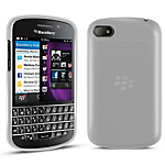 Orzly Gel Case for BlackBerry Q10 - White