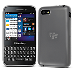 Orzly Gel Case for BlackBerry Q5 - White