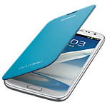 Samsung flip cover for Galaxy Note II - light blue