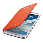 Samsung Galaxy Note II flip cover - orange