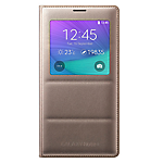 Samsung Note 4 S-View Cover - Gold