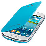 Samsung flip cover for Galaxy S III mini - light blue