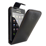 Samsung Galaxy Ace leather flip case