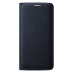 Samsung Galaxy S6 Edge flip wallet Cover (Fabric) - Black