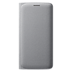 Samsung Galaxy S6 Edge flip wallet Cover (Fabric) - Silver