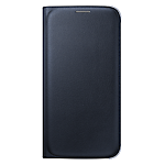 Samsung Galaxy S6 flip wallet cover (Fabric) - Black