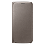 Samsung Galaxy S6 flip wallet cover (PU) - Gold