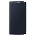 Flip wallet cover (PU) for Samsung Galaxy S6 - Black