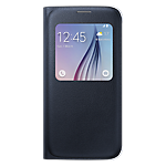 Samsung S-View Cover for Galaxy S6 (Fabric) - Black