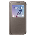 Samsung S-View Cover for Galaxy S6 (Fabric) - Gold