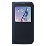 Samsung S-View Cover (PU) for Samsung Galaxy S6 - Black