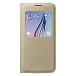 Samsung S-View Cover for Galaxy S6 (PU) - Gold