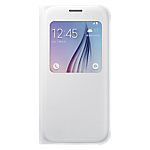 Samsung S-View Cover for Galaxy S6 (PU) - White