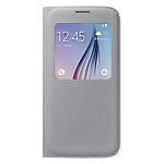 Samsung S-View Cover for Galaxy S6 (Fabric) - Silver
