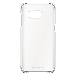 Official Samsung Galaxy S7 Edge Clear Cover case - Gold