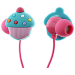 Trendz Cupcake earphones with inline microphone