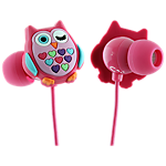 Trendz Owl earphone with inline microphone