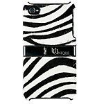 Uunique zebra leather hard shell flip case for Apple iPhone 4/4S