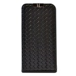 Uunique iPhone 4/4S Weave flip case - black