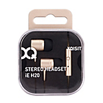 XQISIT In Ear H20 with Mic Gold