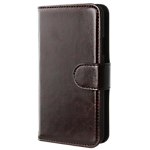 Xqisit Wallet Case Eman for Galaxy S5 - Brown