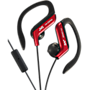 JVC Sports Headphones with mic and clip - Red