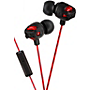 JVC Xtreme Xplosives in-ear headphones with mic - Red