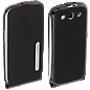 Samsung Galaxy S III Leather Flip Case - Black