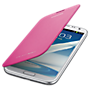 Samsung flip cover for Galaxy Note II - Pink