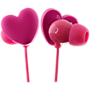 Trendz Heart earphone with inline microphone