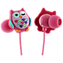 Trendz Owl earphone with inline microphone