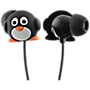 Trendz Penguin earphones with inline microphone